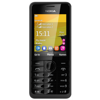 Сотовый телефон NOKIA 301 Dual Black