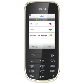 Сотовый телефон NOKIA ASHA 202 White Gold
