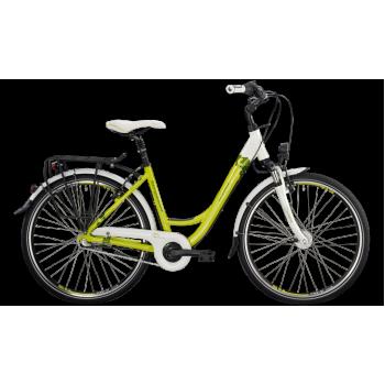 Велосипед городской Bergamont Belami N3 26 C1 (2014) White / Lime / Yellow / Green (Shiny)