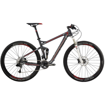 Велосипед горный BERGAMONT FASTLANE 7.4 (2014) GREY / WHITE / RED (MATT)