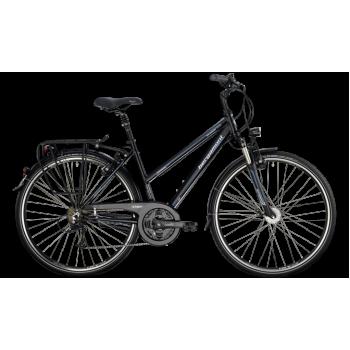 Велосипед туристический BERGAMONT SPONSOR TOUR SUSP. LADY C1 (2014) BLACK / CYAN / WHITE (MATT)